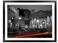 Bank of England & Royal Exchange, London, Framed Mounted Print