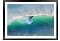 Porthtowan Surf #1, Framed Mounted Print