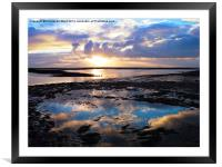 Sea Sunrise Reflection, Framed Mounted Print