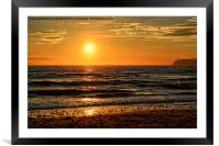 Sunset on the Beach., Framed Mounted Print