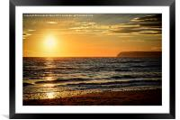 Sea Sunset, Framed Mounted Print