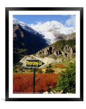 To the Thorong-La Pass, Nepal, Framed Mounted Print
