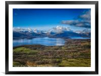 Loch Lomond from Conic Hill, Framed Mounted Print