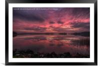 Lake of Menteith winter sunset, Framed Mounted Print