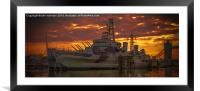 HMS Belfast, Framed Mounted Print