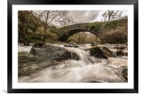 Fast Flowing., Framed Mounted Print
