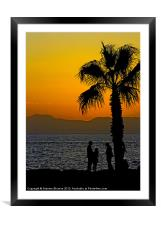 Sunset Discussion, Framed Mounted Print