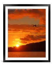 Sunset Glider, Framed Mounted Print