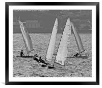4 Boaters, Framed Mounted Print