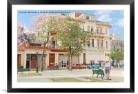 Cuban Square, Framed Mounted Print