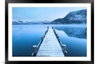 Ullswater Winter Jetty, Framed Mounted Print