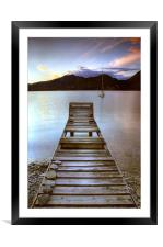 Jetty - Lake Maggiore, Italy, Framed Mounted Print