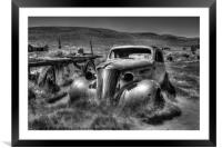 Bodie Ghost Town, Framed Mounted Print