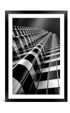 Skyscraper in downtown San Francisco, Framed Mounted Print