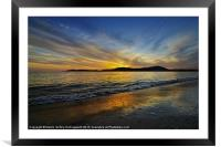 Sunset in Paradise, Framed Mounted Print