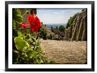 Gold Hill Shaftesbury, Framed Mounted Print