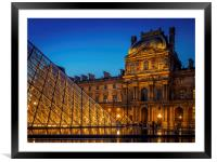 The Louvre Paris, Framed Mounted Print