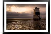 Burnham-on-Sea Low lighthouse, Framed Mounted Print