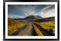 The Red Cuillin Hill, 'Glamaig', seen from above P, Framed Mounted Print