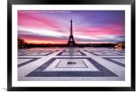 Paris Sky on Fire, Framed Mounted Print