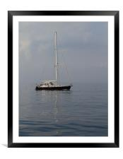 Calm seas and blue waters, Framed Mounted Print