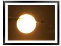Vulcan Sunburst, Framed Mounted Print