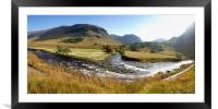 Etive in Autumn, image stitch, Framed Mounted Print
