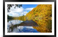 Autumn colours at the Jetty , Framed Mounted Print