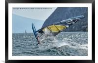 Crazy Windsurfer, Framed Mounted Print
