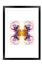 Smokey butterfly 2, Framed Mounted Print