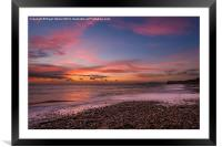 Brook Beach Sunset, Framed Mounted Print
