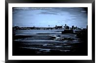 Liverpool Waterfront In The Distance, Framed Mounted Print