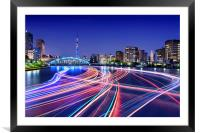 Rush Hour On Sumida River, Framed Mounted Print