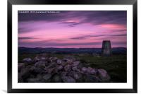 Purple Skies, Framed Mounted Print