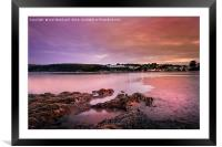 Saundersfoot Bay, Framed Mounted Print