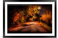 Autumn Nights, Framed Mounted Print