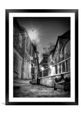 The Leaning Lamp post, Framed Mounted Print