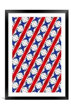 Stars and Stripes, Framed Mounted Print