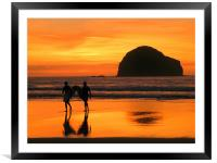 Cornwall: The Gold Coast, Framed Mounted Print