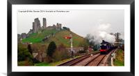Approaching Corfe, Framed Mounted Print