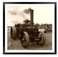 Fowler Ploughing Engine, Framed Mounted Print
