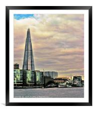 The Shard , Framed Mounted Print