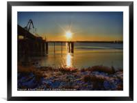 Winter Sun , Framed Mounted Print