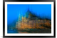 Impression of the Parliament Buildings, Budapest, Framed Mounted Print