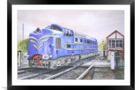 The English Electric Deltic, Framed Mounted Print