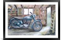 The Garden Shed, Framed Mounted Print