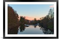 The river Derwent at Milford, Framed Mounted Print