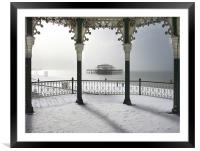 Bandstand winter view, Framed Mounted Print