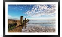 Redcar Sea Defence, Framed Mounted Print