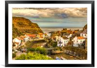 Staithes the popular view, Framed Mounted Print